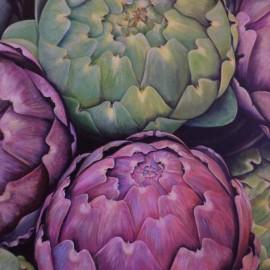 Carciofi (Orto 5) Acrylic on canvas 80x60