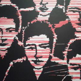Dark men (acrylic in canvas 150x80)