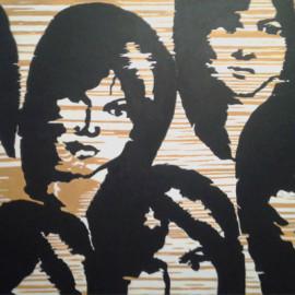 Dark women (acrylic on canvas 150x80)