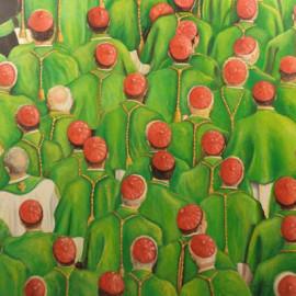 Dolci Padri... (Acrylic on canvas 80x80)