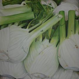 Finocchi (Orto 6) Acrylic on canvas 80x60