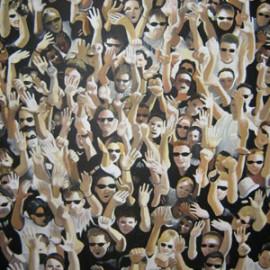 Folla 1 (Acrylic on canvas 135x175)