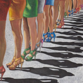 Harmonic legs (Acrylic on canvas 80x60)