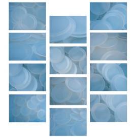 Ipnosi Composizione di 12 tele totale 250x300 Acrylic on canvas