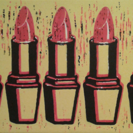 Just the RED one (Acrylic on canvas 100x40cm)