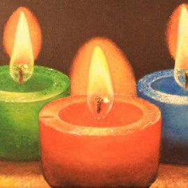 Lumini (Acrylic on canvas 60x25)
