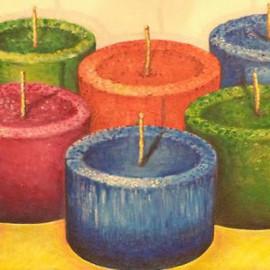 Lumini che aspettano (Oil on canvas 60x25 cm)