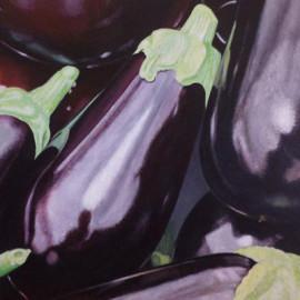 Melenzane (Orto7) Acrylic on canvas 80x60
