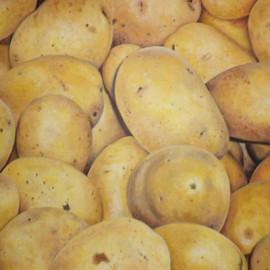 Patate (Orto 3) 80x60 Acrylic on canvas
