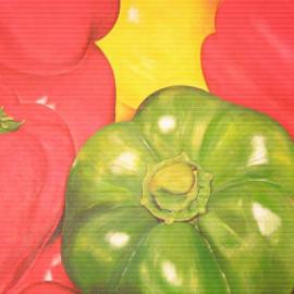 Peperoni (Orto 2) Acrylic on canvas 80x60