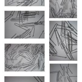 Punti di vista (composizione di 7 tele totale 200x350 - Acrylic on canvas)