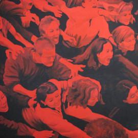 Travolti dalla Passione 1 (Acrylic on canvas 140x105)