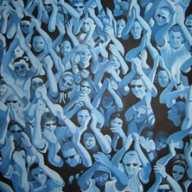 Travolti dalla Passione 2 (Acrylic on canvas 105x140)