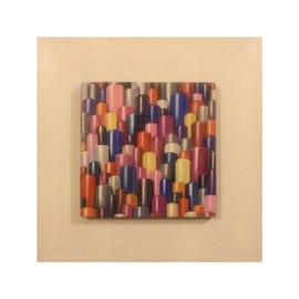 Vertical city (Acrylic on canvas 40x100)