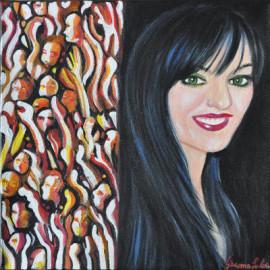 Selfportrait (Acrylic on canvas 30x30)
