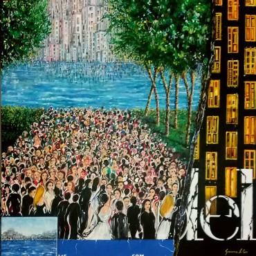 La lotta (acrylic on canvas 80x80)